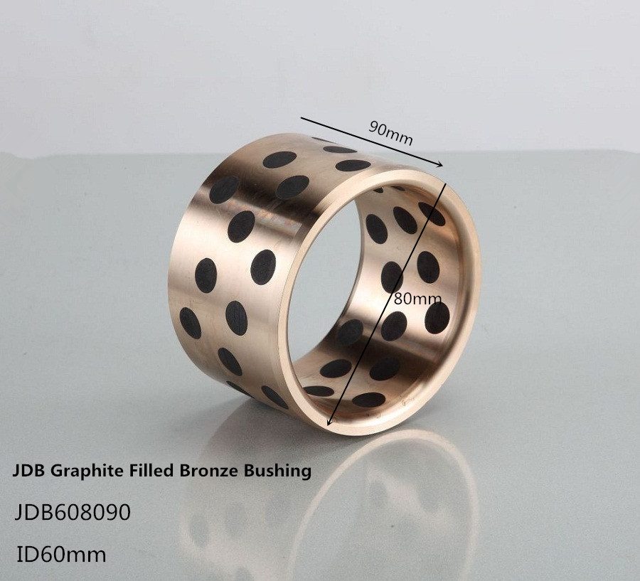 JDB608090 solid bronze graphite Self-Lubricating bushing 1pcs , Brass graphite bushing,bronze bearings lm40uu solid inlay graphite self lubricating linear bearings bushings without oil graphite copper sleeve 40 60 80