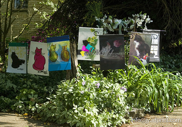 Merveilleux Custom Full Color Decorative Garden House Flags With Metal Pole