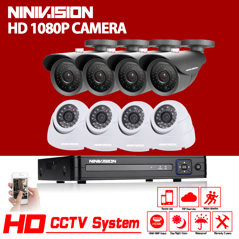 HD 3000TVL 8CH AHD 1080P security system CCTV 3G Wifi DVR KIT outdoor indoor 2.0mp camera video surveillance System with 2TB HDD white bullet hd camera 8pcs 900tvl security outdoor waterproof camera 8ch ahd 1080p 960h cctv system 3g wifi dvr kit hdmi 1080p