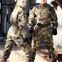 Multicam Camouflage Army Military Uniform Men tactical Cargo Pants Bdu Combat Uniform Army Men's Military Clothing Sets