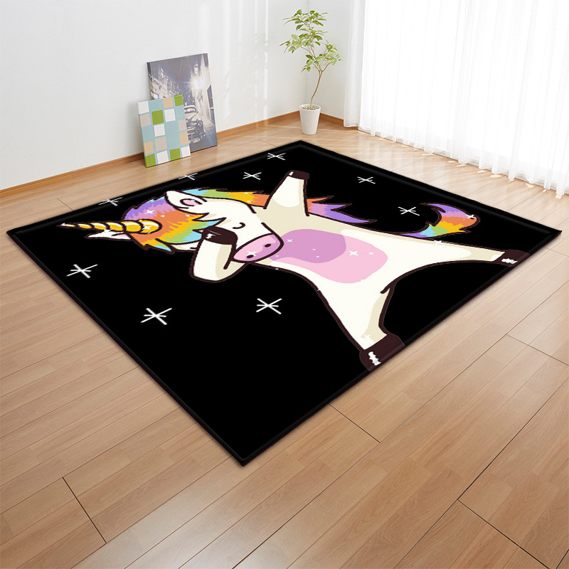 Nordic style 3D Unicorn Print Carpet Kids Bedroom Play Mat Flannel Home Area Rugs and Carpets for Living Room Big size Soft RugNordic style 3D Unicorn Print Carpet Kids Bedroom Play Mat Flannel Home Area Rugs and Carpets for Living Room Big size Soft Rug