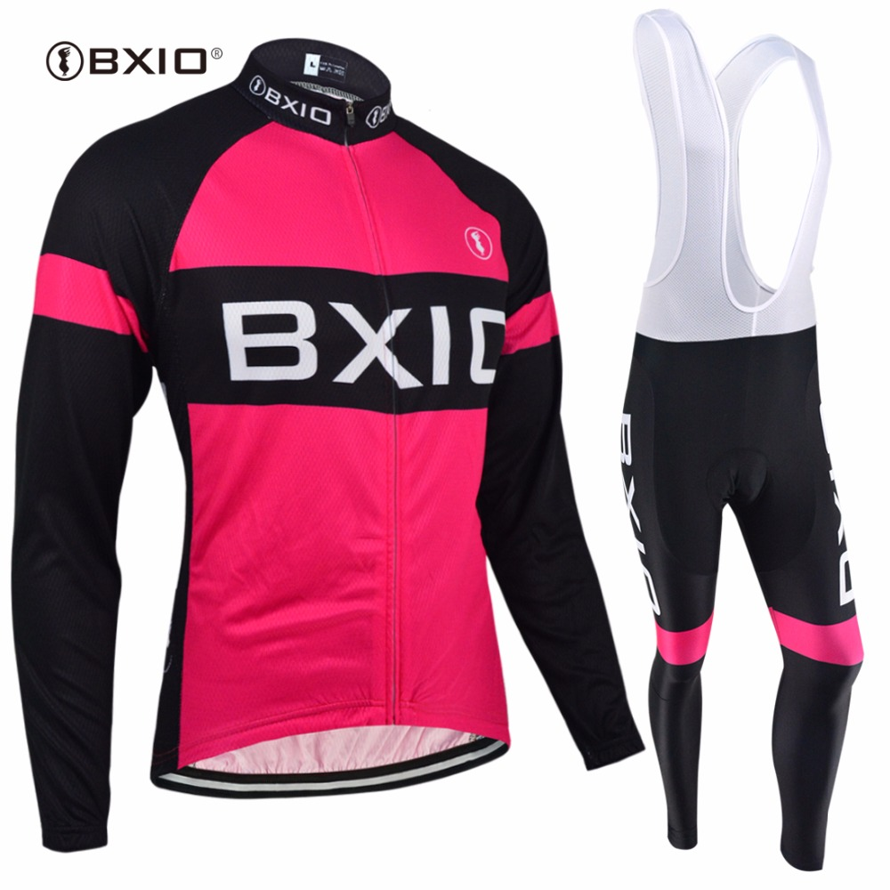 BXIO Winter Cycling Jerseys Women Long Thermal Fleece Bicycle Clothing Seamless Stitching Pro 5D Gel Pad Maillot Ciclismo 135 bxio winter thermal fleece bicycle jersey top rate seamless stitching long sleeves pro cycling clothing 5d pad ropa ciclismo 138