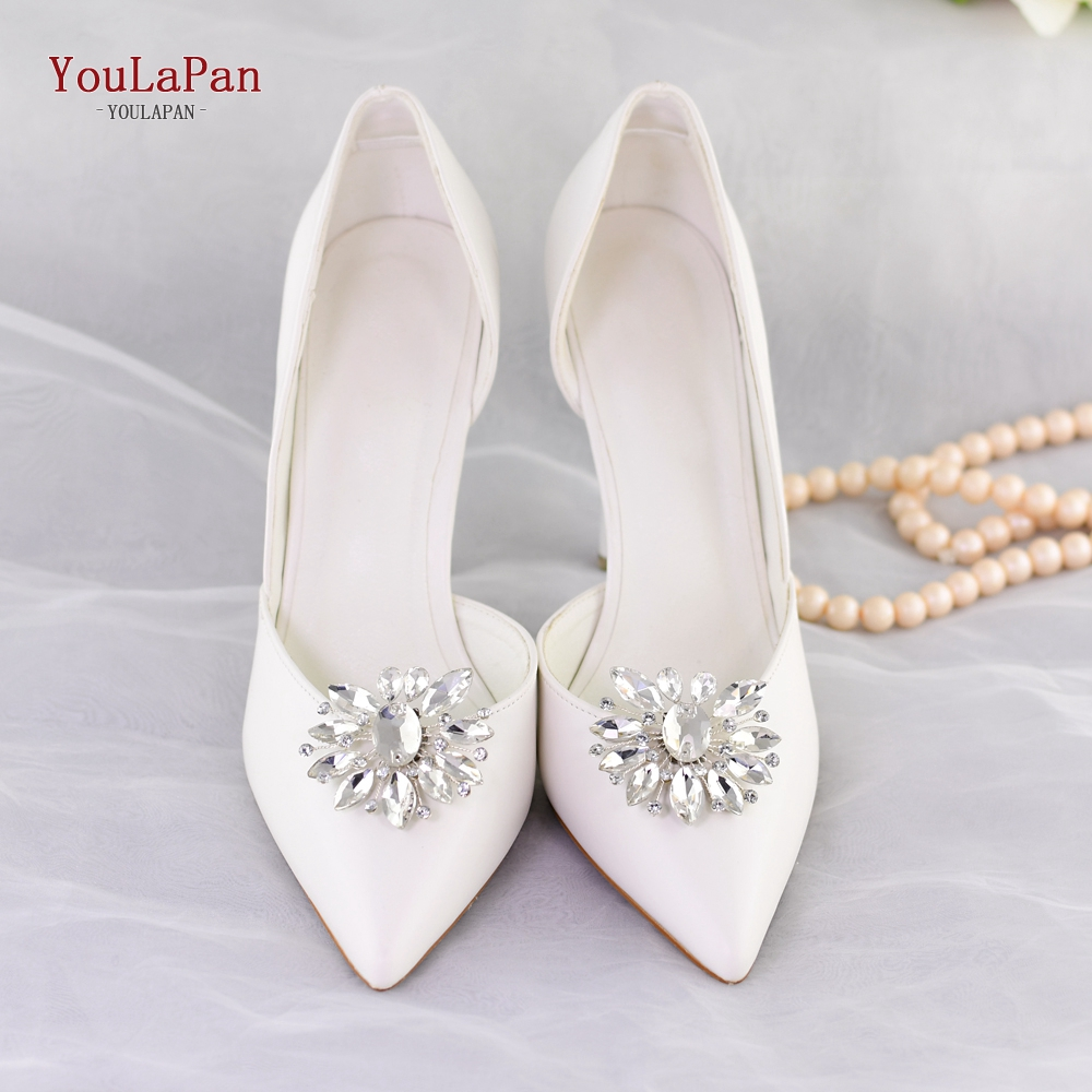 YOULAPAN  X11 2pcs Handmade Rhinestone Charms Shoe Buckle Wedding Shoe Clips For Women Bride High Heel Decoration Fast Delivery