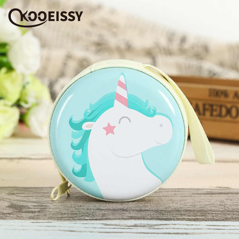 Unicorn Earphone Wire Organizer Box Data Line Cables Storage Box Case Container Coin Headphone Protective Box Case Container