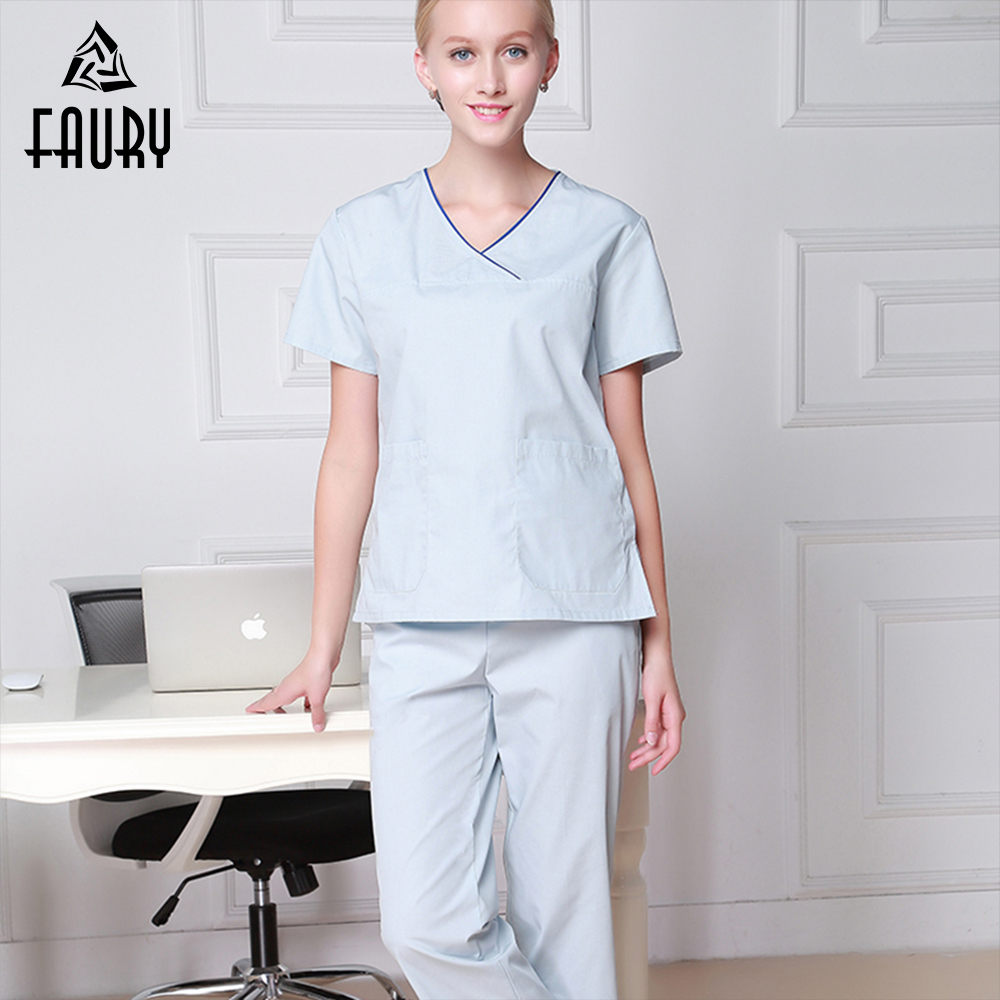 Medical Uniforms Women's Clothing Scrubs Sets Nurse Uniform Hospital Dental Clinic Spa Beauty Salon Fashion Design Slim Fit