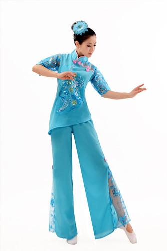 Chinês yangko roupas de dança popular chinesa de dança de dança desgaste desempenho roupas de dança