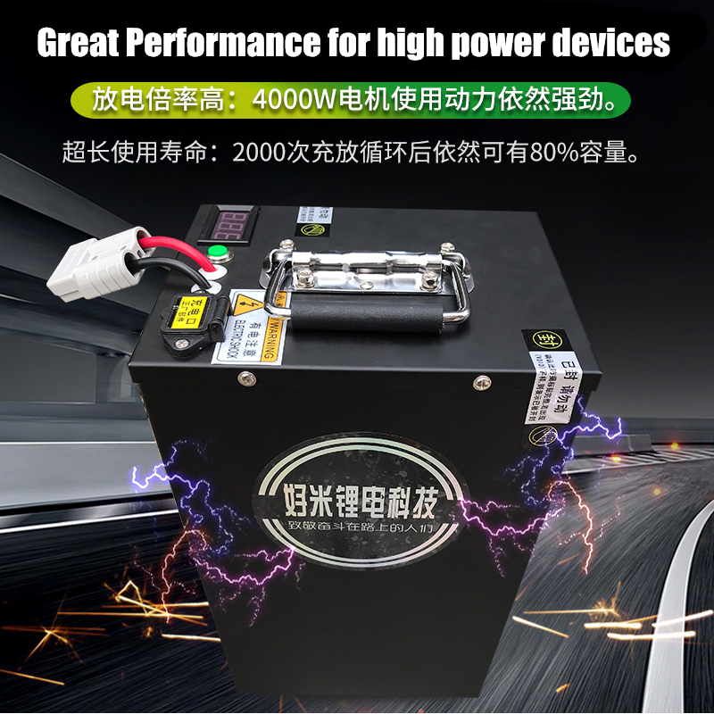 High drain big-capacity 48V 60V <font><b>72V</b></font> 40AH <font><b>60AH</b></font> 100AH power <font><b>lithium</b></font> ion li-ion <font><b>battery</b></font> for power devices/vehicle power bank image