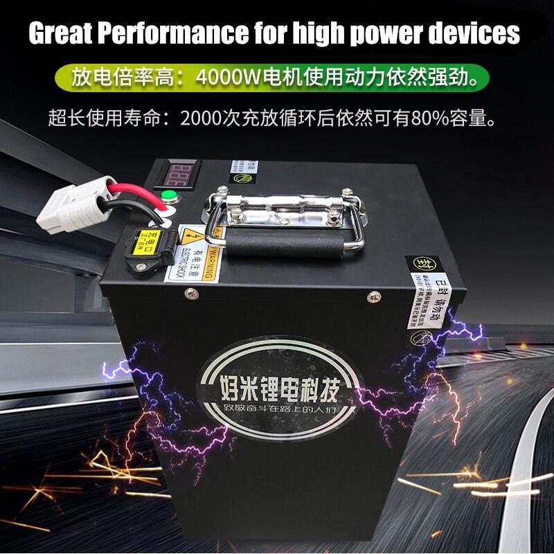 Batería de iones de litio de alta calidad para dispositivos de energía de emergencia al aire libre, Banco de energía de vehículo, 72V, 40AH, 60AH, 100AH