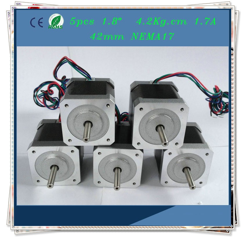 42HS40 1704 5pcs Nema17 1.8 degree 1.7A 42mm 2phase Hybrid Stepper on 4 wire stepper motor wiring color code, 4 wire relay wiring diagram, 4 wire switch, 4 wire oxygen sensor wiring diagram, stepper motor driver circuit diagram,