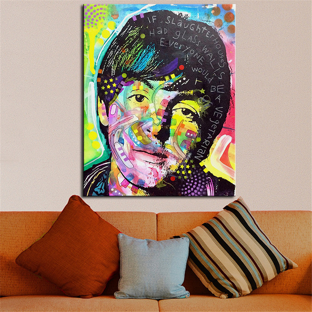 Large Size Print Oil Painting Wall Paul Mccartney Pop Art Decorative Picture For