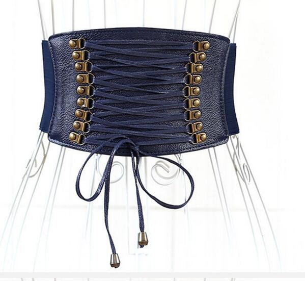 Punk Grommet Belt Long Tassel Fringe Corset Belts For Women Wide Zipper Buckle Lace Up Belt Ladies Slim Waist Belt Brede Riem in Women 39 s Belts from Apparel Accessories
