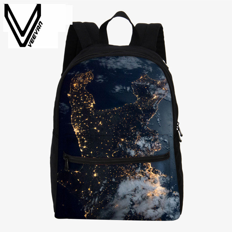 c8f02ee5c976 VEEVANV New Men s Backpacks Kids Earth Aerial Photography Printing Backpack  Children Shoulder Bag Canvas School Backpack