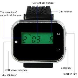 Image 3 - Retekess מלצר קורא מערכת שולחן שיחת הביפר מסעדת קפה הזמנה מערכת שעון מקלט + 5 שיחת כפתור לקוחות שירות