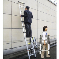 3 8m Adjustable Household Ladder Portable Extension Telescopic Ladder Multipurpose Retractable Aluminum Alloy Straight Ladder