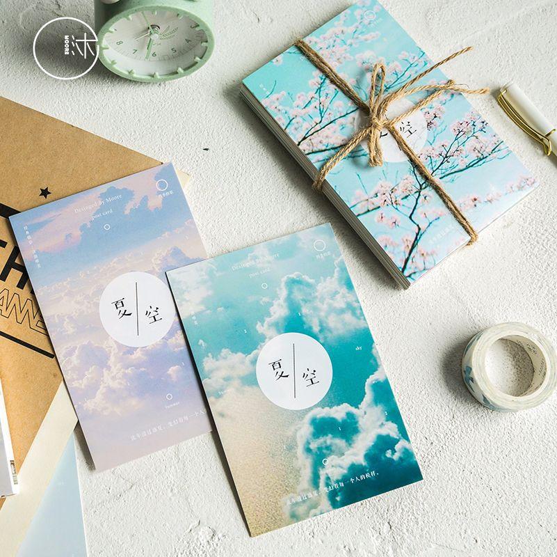 30sheetsset creative summer sky postcardgreeting card