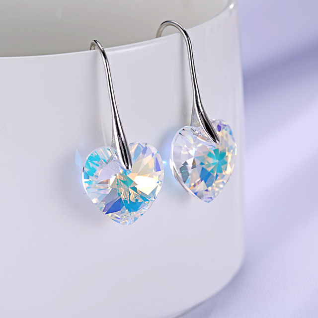BAFFIN Crystal heart pendant eardrop earrings Made with SWAROVSKI ELEMENTS for 2017 Mother's Day women gift