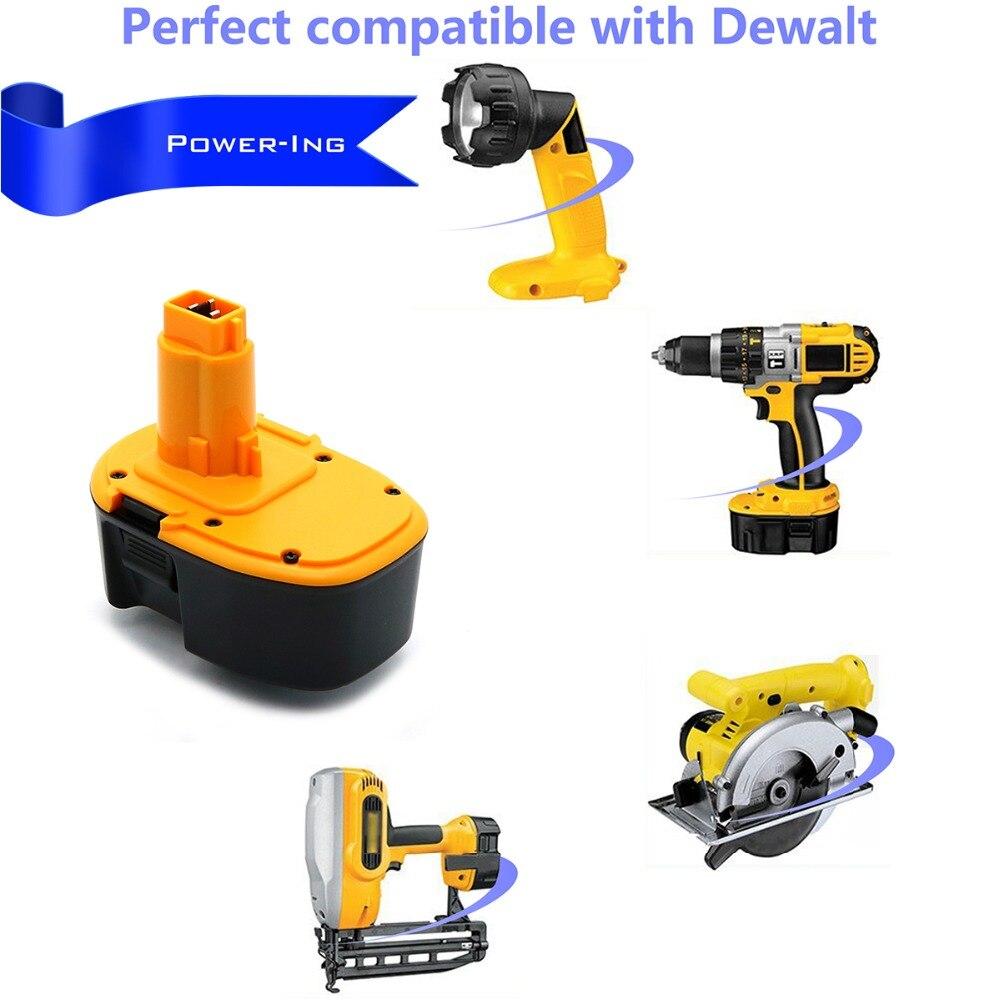 Batterie de remplacement Ni-MH haute capacité 14.4 V 3000 mAh pour Dewalt - 5