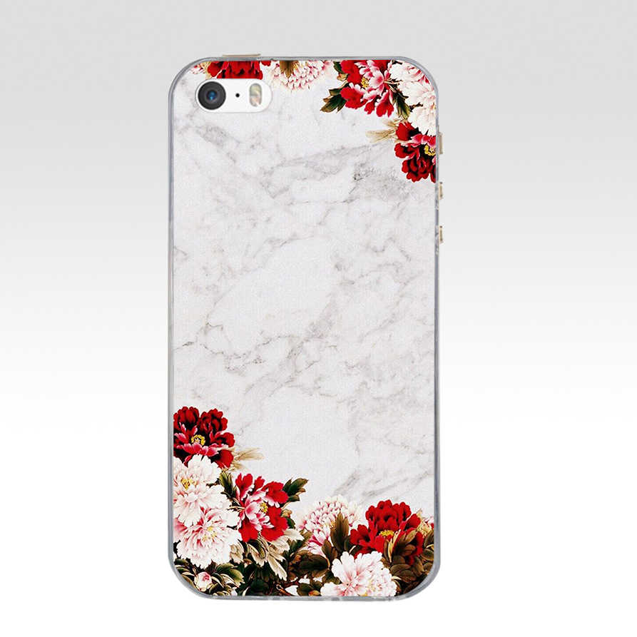 4 iPhone Case For iPhone 5S 5 S SE Soft Silicone TPU Cute Patterned Paint For iPhone 5S 5 S SE Cases