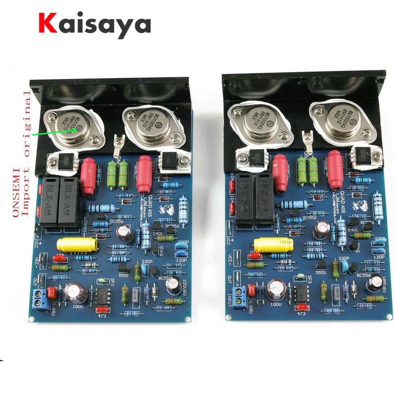 new 1 pair QUAD405 CLONE Amplifier with MJ15024 Angle aluminum 2 channel Kit DIY Assembled Board