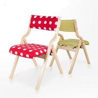 고품질 휴대용 접이식 단단한 나무 의자 레저 식당 의자 이동식 빨 쿠션 패션 다채로운
