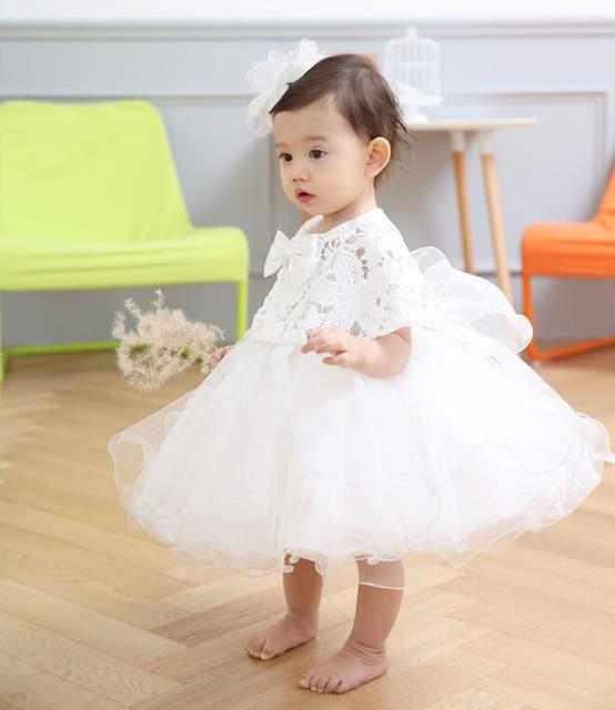 b0e274bcb16e1 US $21.68 41% OFF Latest Set Of One Year Old Baby Girl Birthday Dress  Princess Wedding Vestidos Tutu 2018 Baby Baptism Clothes ABF164701-in  Dresses ...