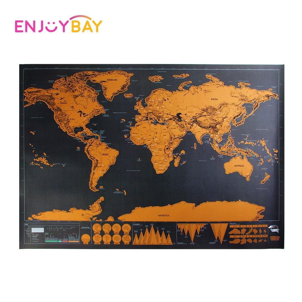 Enjoybay карта мира Пазл большой Размеры Map Poster Jigsaw Puzzle игрушки Ранние развивающие игрушки для детей Подарки для мира путешествия