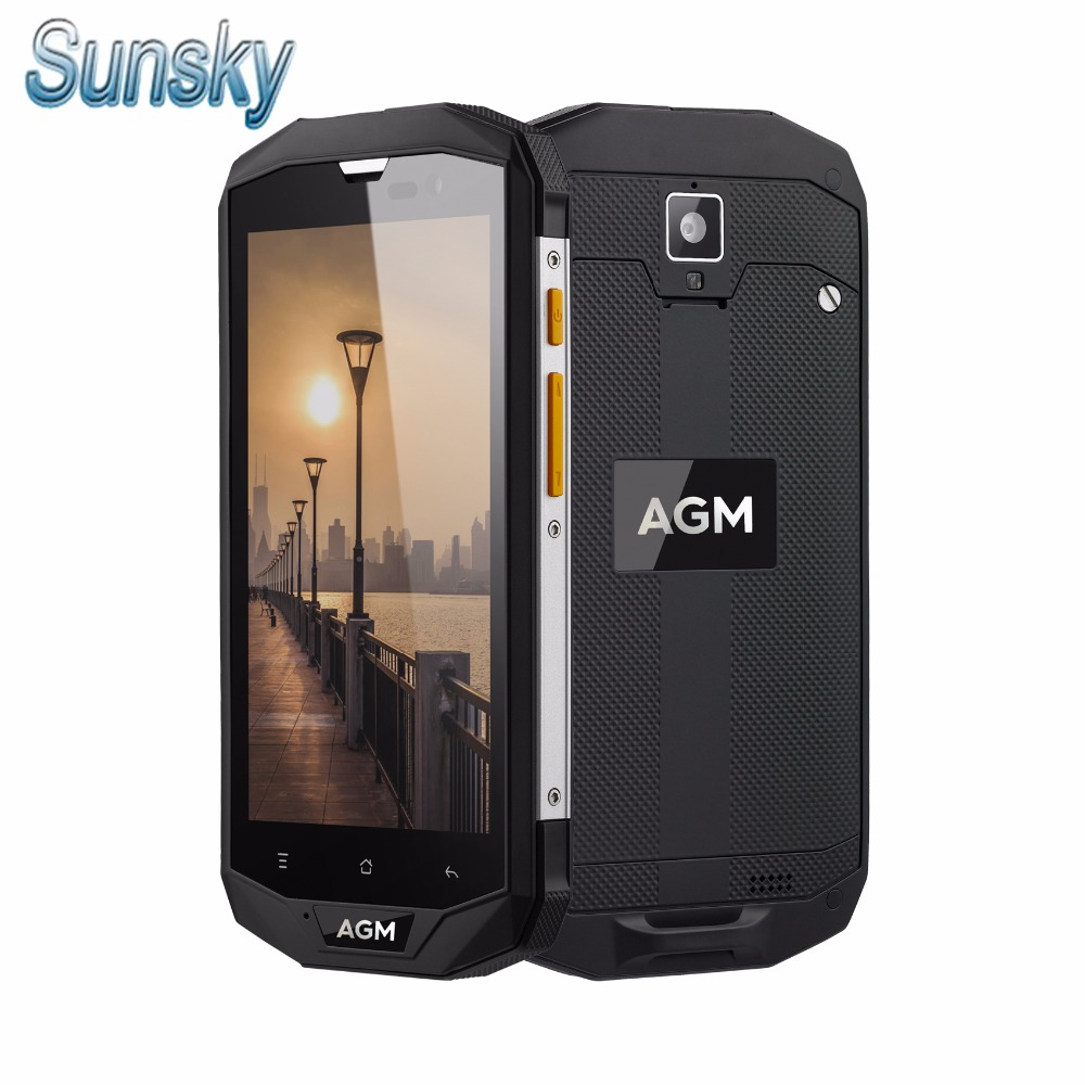 Original AGM A8 IP68 Waterproof 5 0 4050mAh Android 7 0 4G LTE Smartphone MSM8916 3GB