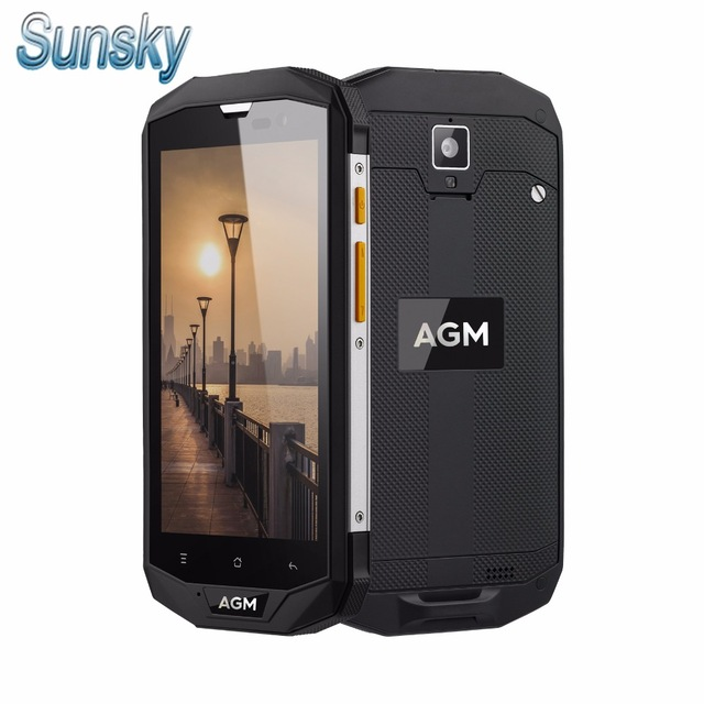 Original AGM A8 IP68 Waterproof 5.0 Inch 4050mAh 4G LTE Smartphone MSM8916 Quad Core 3GB RAM 32GB ROM NFC 13MP OTG Mobile Phone