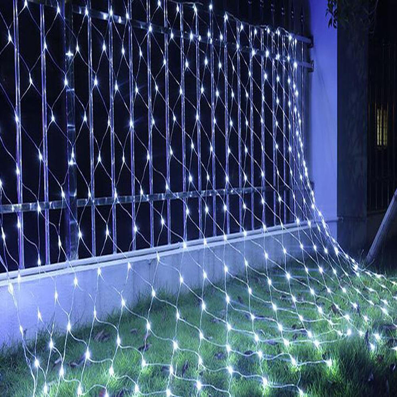 2mX3m LED Net Light AC 110V 220V Led String Lights Garland Mesh Fairy Lamps For All Holiday Christmas Party Wedding Decoration