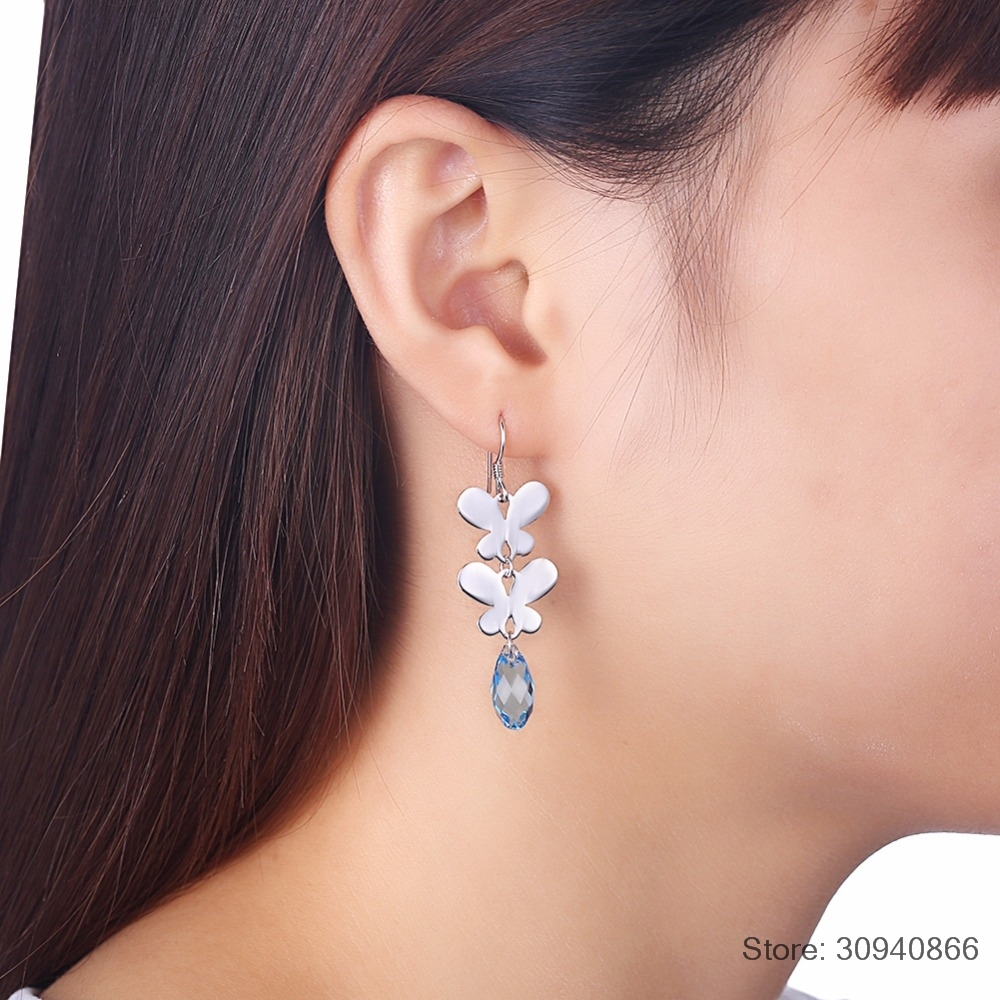 Asymetrical Crystal Dangle Drop Earrings Fit for a Princess!