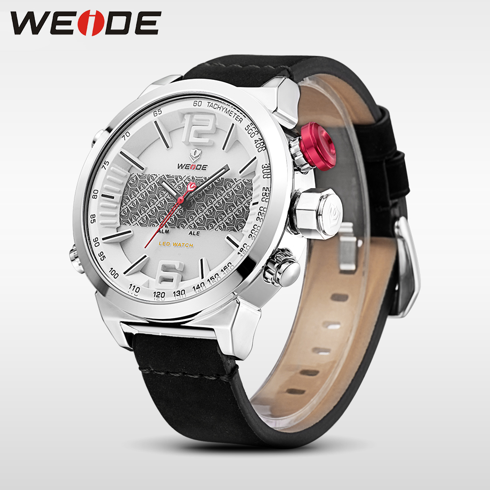 WEIDE luxury clock men watches top brand luxury sport led watch men digital masculino automatic chronograph waterproof reloj powell m in company intermediate 2nd edition students book with cd rom cef liver b1 b2