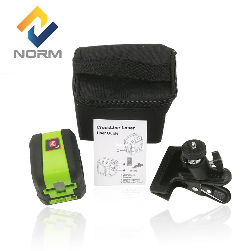 Norm Portable Two Cross Lines Red Beam or Green Beam Laser Auto Leveling Laser with mounting