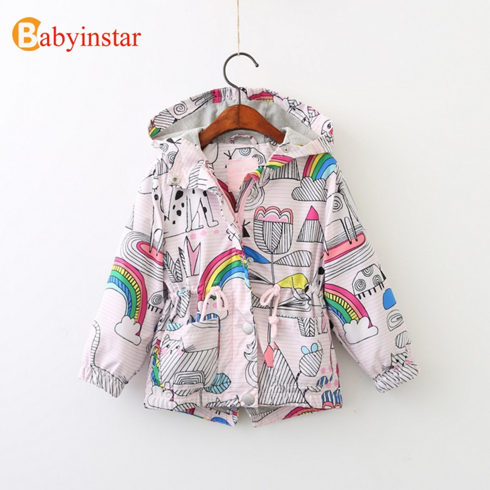 Babyinstar Neue 2018 Boutique Kostüm für Kinder Mit Kapuze Jacke Mäntel Kleinkind Mädchen casual Muster Outfits Tops Für Kinder