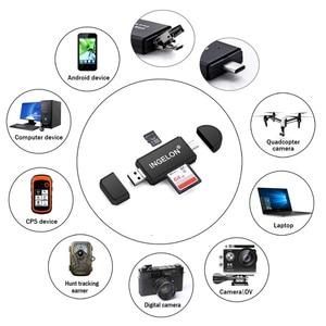Image 4 - Ingelon Универсальный кардридер USB C OTG Устройство для чтения карт SD TF microsd MMC Android компьютер удлинитель адаптер для камеры SD ридер