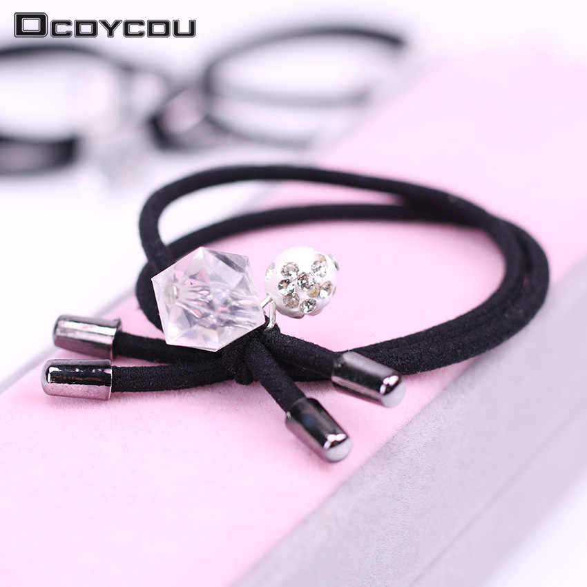 1PC Elastic Hair Bands Crystal Drill Ball Hair Ring Women Hair Ties Girls Hair Accessories Ponytail Rope Hairband Kid Headwear