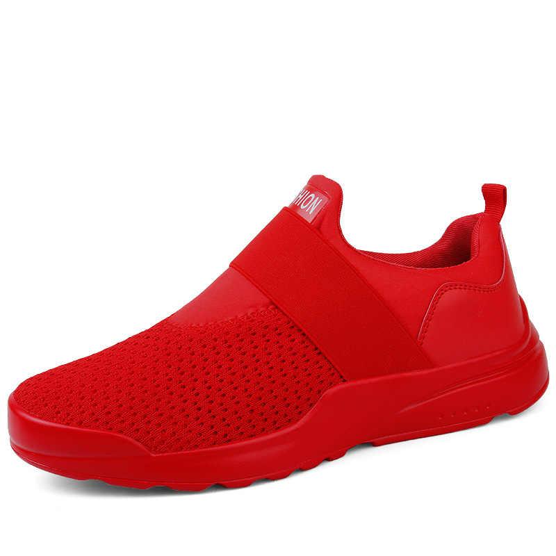 Polali Casual Schoenen Heren Sneakers Ademende Sneakers Mannen Outdoor Mannelijke Slip Op Flats Hoge Kwaliteit Heren Schoenen Grote Maten 39 -46