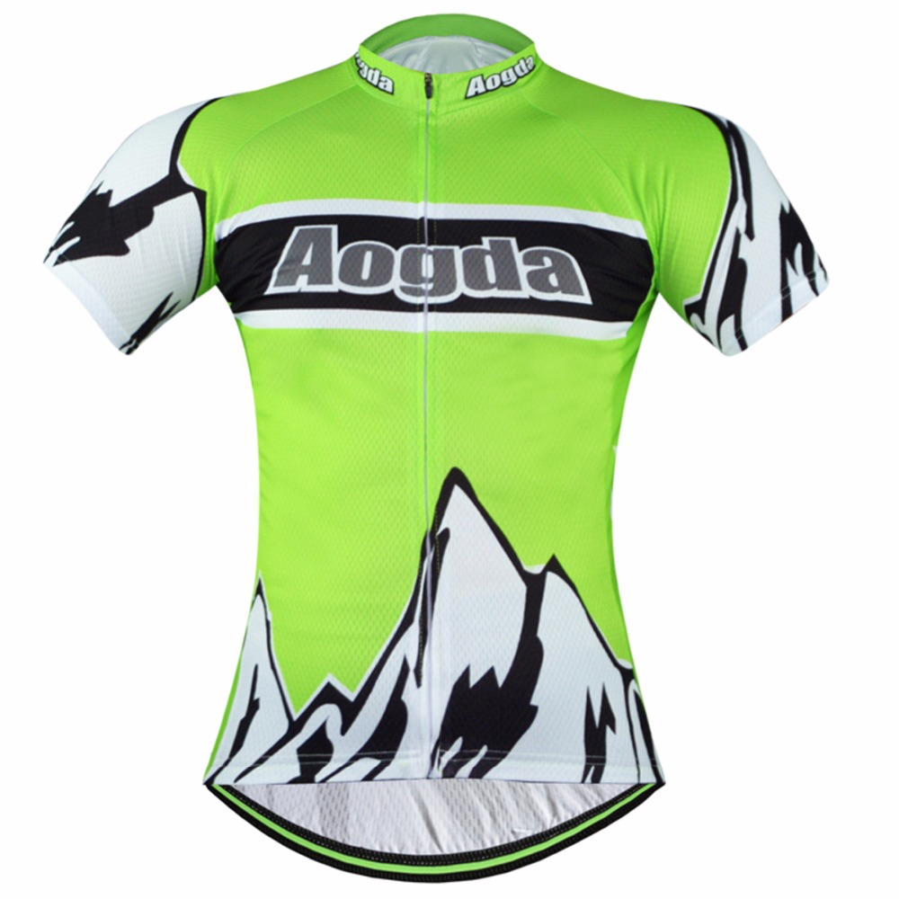 0c3b6c4d9 Men s Green Cycling Jerseys Aogda Cycling Clothing