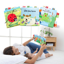 Cloth Books Early Education bathing Animal Baby Book English Quiet Book for Kids with BB Sound Paper Label все цены