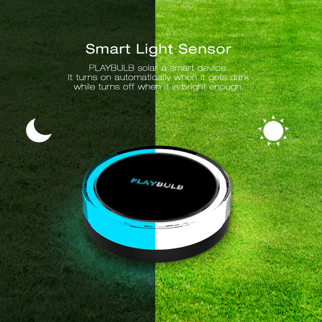 MIPOW PLAYBULB Garden Solar Powered RGB Color LED Garden Light Waterproof Outdoor Lawn Lamp Smart Wireless Bluetooth APP Control