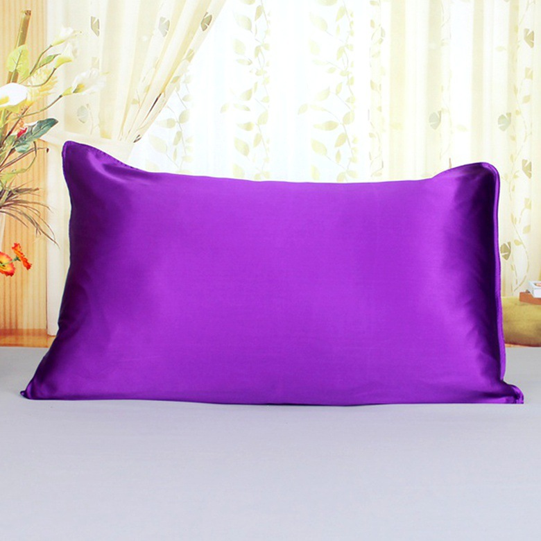 16Momme 100% Both Side Mulberry Silk 48x74cm Pillowcase for Hair&Facial,Hidden Zipper,Standard Royal Blue,1pc
