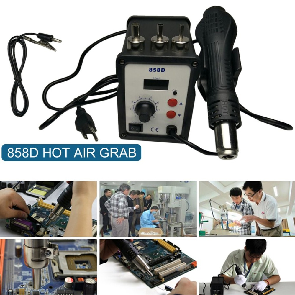 Hot Air Gun Desoldering Soldering Rework SMD Station kit Repair Tools Dual use Soldering Station Rework Station Digital Display
