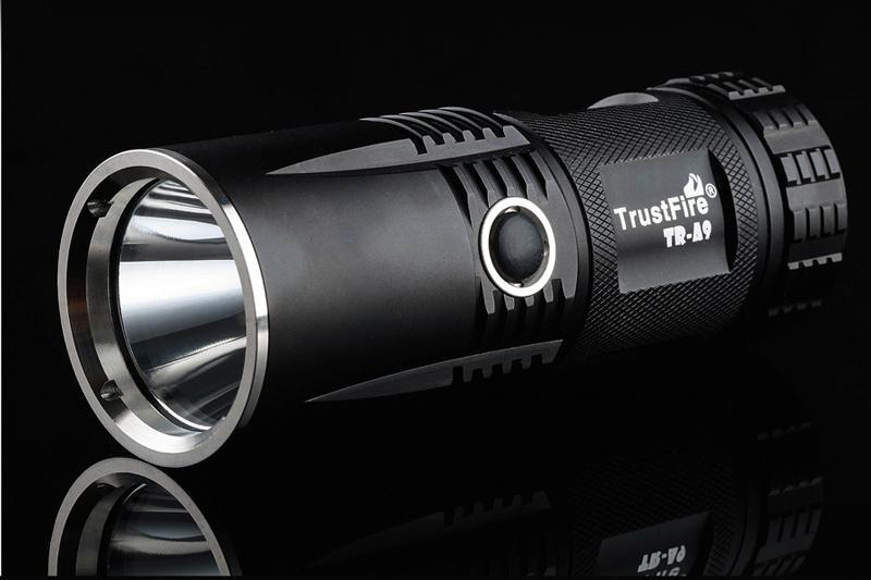 Free Shipping TrustFire A9 800 Lumens CREE XM-L L2 Led Torch 5 Mode LED waterproof Flashlight 1pc trustfire tr j18 flashlight 5 mode 8000 lumens 7 x cree xm l t6 led waterproof torch come with 3 18650 battery charger