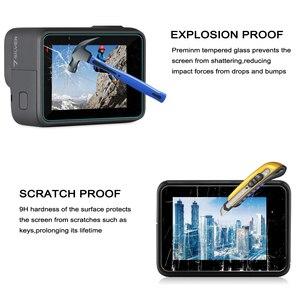 Image 5 - GAQOU verre trempé pour Gopro Hero 7 6 5 noir capuchon dobjectif LCD protecteur décran Go Pro Action caméra Film de protection accessoires