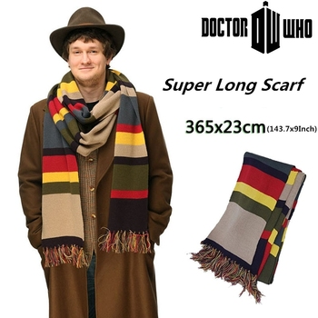 TV Dr Doctor Who Shawl Scarf Delxue Stripes Tom Baker