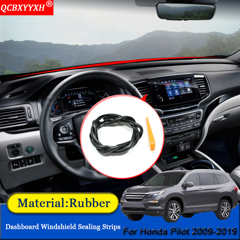 Honda Pilot Accessories >> Us 13 99 15 Off Car Styling Rubber Anti Noise Soundproof Dustproof Car Dashboard Windshield Sealing Strips Accessories For Honda Pilot 2009 2019 In