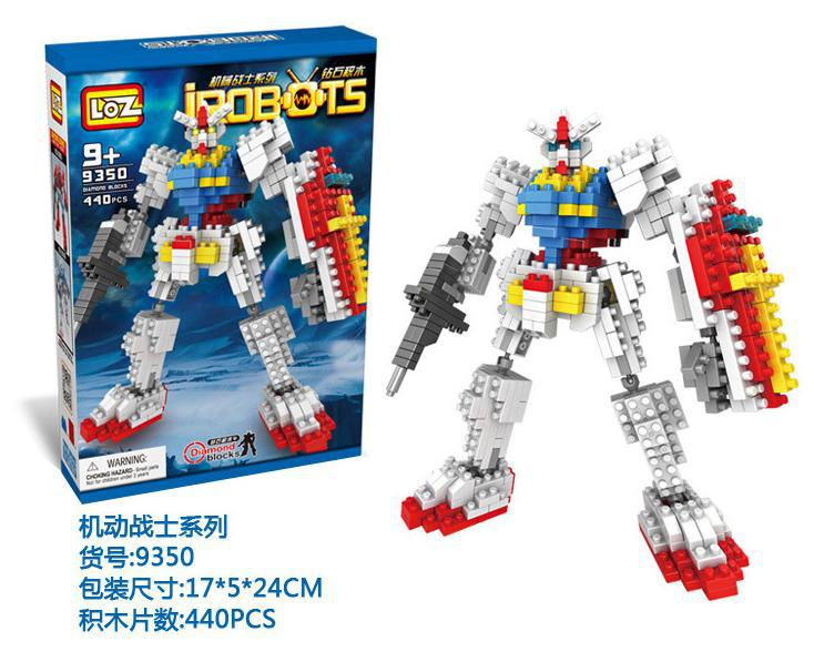 Wholesale <font><b>LOZ</b></font> <font><b>Gundam</b></font> <font><b>Blocks</b></font> DIY IROBOTS Mini <font><b>Blocks</b></font> Educational <font><b>Building</b></font> Toys Cartoon DIY <font><b>Blocks</b></font> Children Gifts Kids Toys <font><b>9350</b></font>