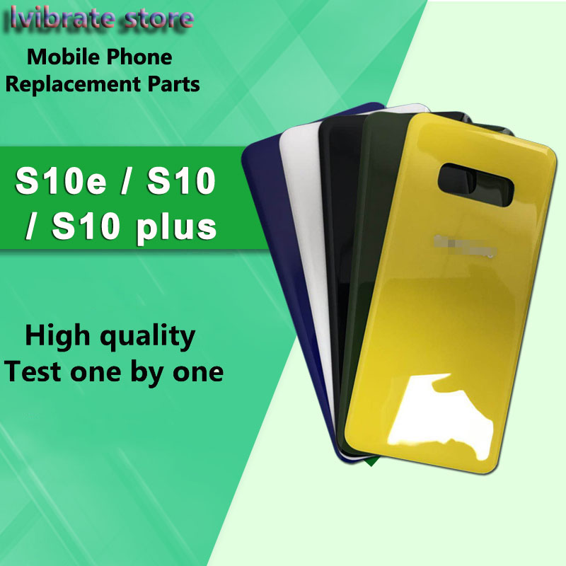 New glass Battery Back Rear Cover Door Housing For Samsung galaxy S10e G9700 5.8 Battery Cover S10 E back shell replacement image