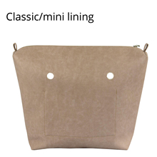 New Classic Mini PU Leather Waterproof Inner Lining Zipper Pocket for Obag Lining Insert for O BAG