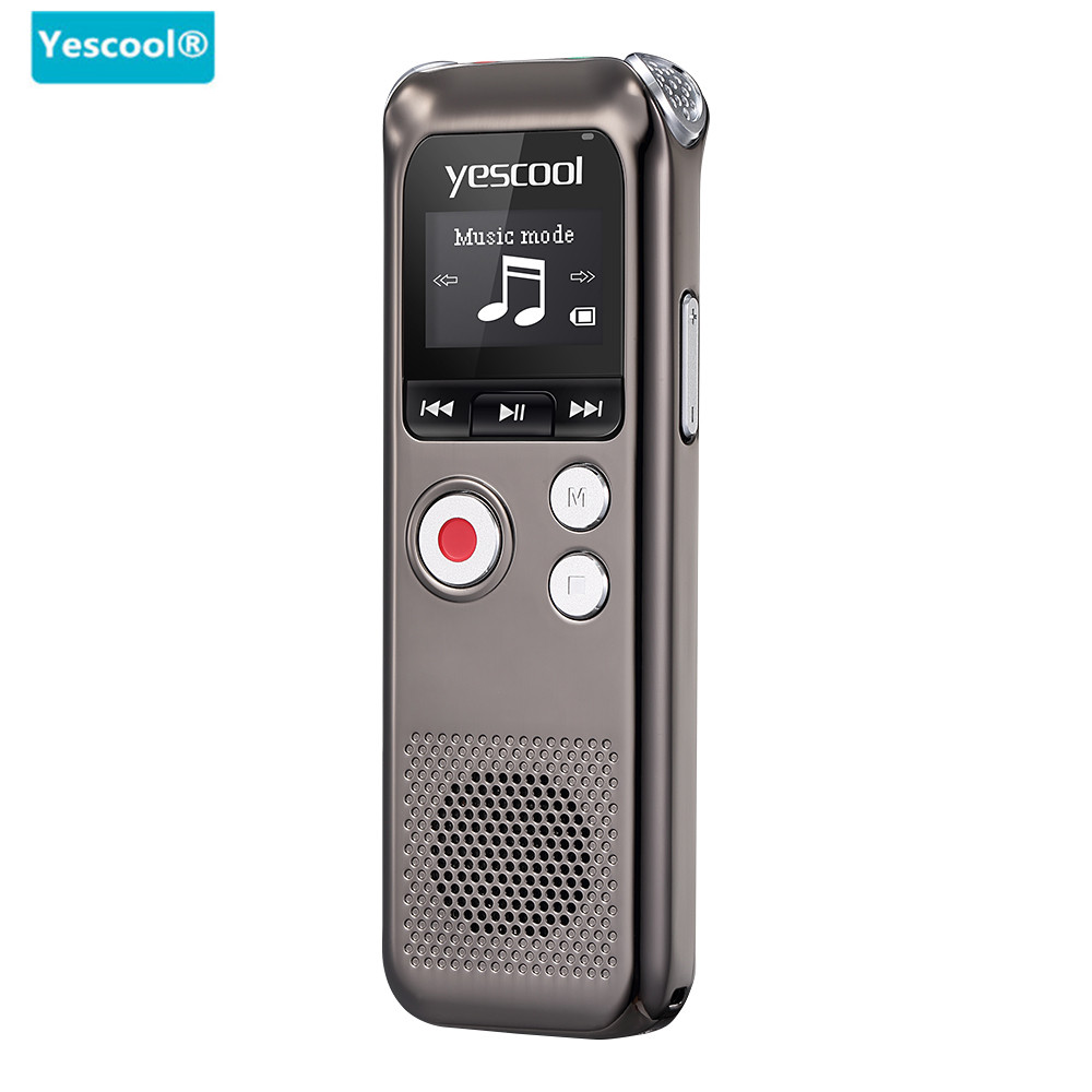 Yescool A60 8GB Original Voice Recorder 2160 Hours Recording Dictaphone hidden Digital Audio Voice Recording With WAV MP3 Player arduino wav player 22 1khz voice play sound broadcast module compatible with rpi stm32
