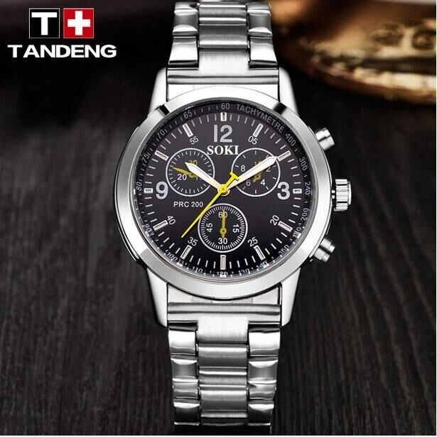 SOKI 1130hot style stainless steel strap leisure font b men s b font font b watch